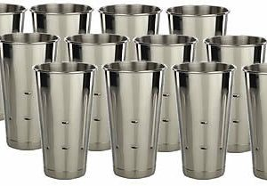 12 Stainless Steel Malt Shake Cups