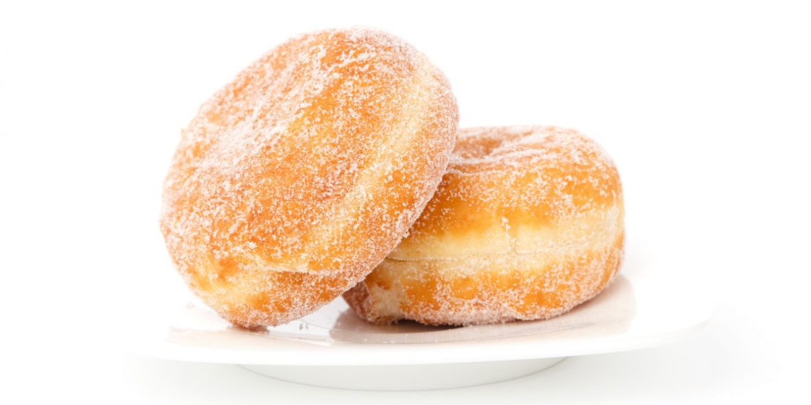 Sugared Donuts on a plate