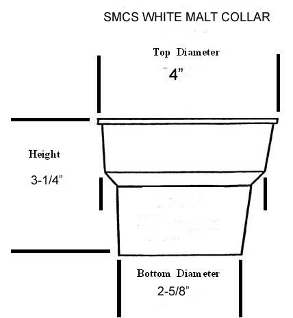 Diagram of Malt collar with dimensions