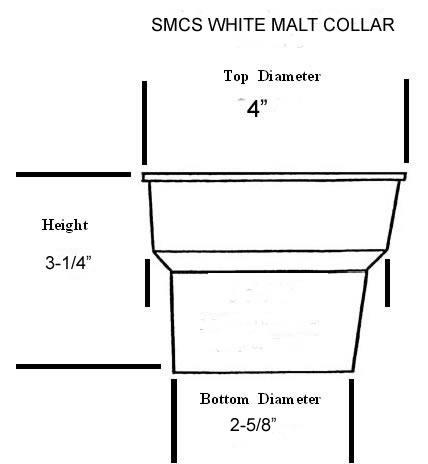 Diagram of Malt collar with dimensions