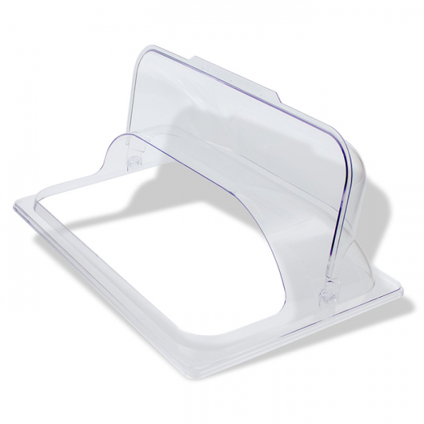 Poly-Carbonate dome cover with half size flip lid
